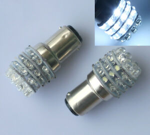 2x Car 12V 36 LED BA15D 1157 Globe For Caravan Boat Anchor Brake Light Bulb