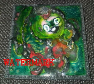 CANADIAN MIXED MEDIA FOLK ABSTRACT ARTWORK, TITLED, & SIGNED