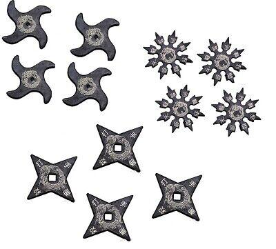 Ninja Martial Arts Rubber Foam Throwing Stars Practice Shuriken - SET of 12