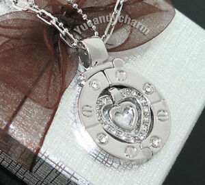 Korean Drama TV Stairway to Heaven Couple Necklace SET Sterling Silver Plated