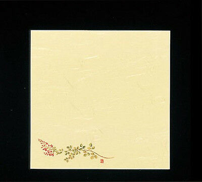 100 Sheets! Japanese Kaishi Paper: Decorative Table Mat: Bush Clover 15 x 15 cm