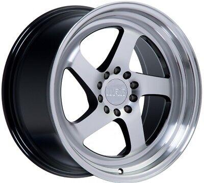F1R F28 18X9.5 5X100/114.3 +20 Mach Black Rims Fits Eclipse Camry Civic Tc 2010+