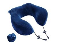 Memory foam travel pillow great quality squashes into a small bag which is attached. never used