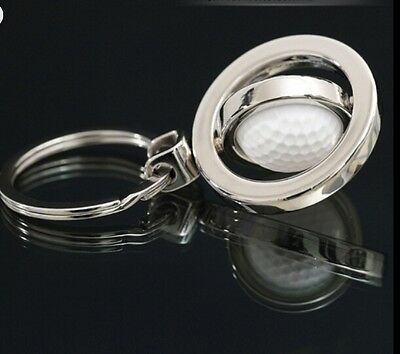 3D Sports Rotating tennis Keychain Keyring Key Chain Ring Key Fob ball