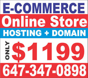 E COMMERCE WEBSITE , ONLINE STORE STARTING FROM JUST $1199 ONLY