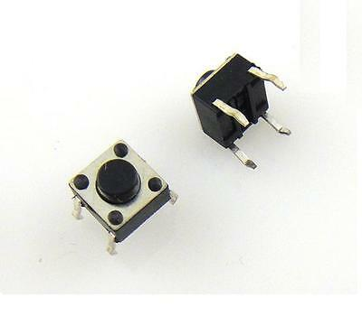 50pcs Micro Switch Push Button 6 6 5 Mm 6x6x5mm New