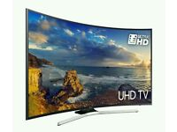 "SAMSUNG 65"" CURVED 4K UHD HDR SMART 3D WIFI HD FREEVIEW."