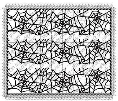 Halloween Spider Web image cake strips decoration sides #20449