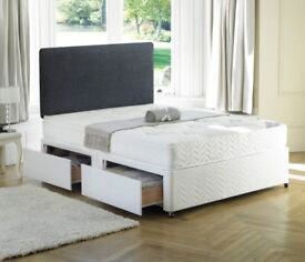 **Cheapest Price Offered**BRAND New Double Divan Bed Base and Super Orthopedic Mattress