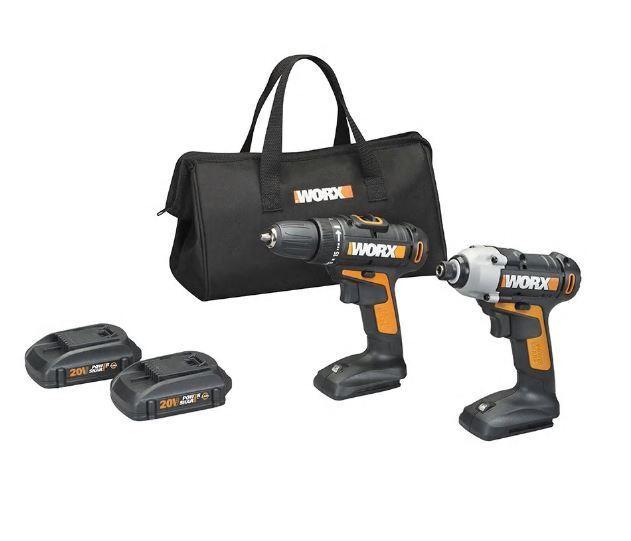 WORX WX944L 20V Drill & Impact Driver Combo Kit