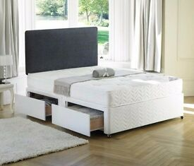 BRAND NEW DIVAN BED IN DOUBLE SIZE AVAILABLE IN WHITE AND BLACK WE