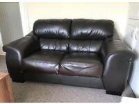 Black 2 Seater leather sofa (just needs gone as moving)