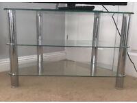 3 tier glass TVs stand