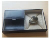 Brown Faux Leather Valet Tray from John Lewis