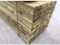 🚀New Tanalised Wooden Railway Sleepers Excellent Quality • HeavyDuty