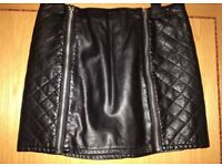 H&M leather skirt uk12