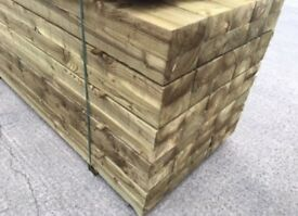 🎯New Pressure Treated Railway Sleepers • 190 x 90 x 2.4m