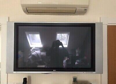 """LG 42PX4R 43"""" Silver Surround Speakers HD Plasma Television Remote And Manual"""