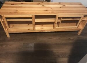 Glass sliding door coffee table/ TV stand for sale! $80