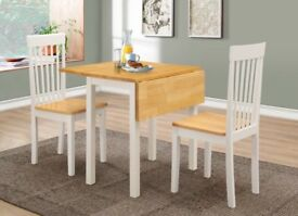 Square dining table and chairs - Wayfair Atlas dining set and 2 chairs