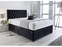 💫HUGE SALE-Brand new Divan beds with headboard Starting from £99-available in many colours🌈🌈🌈