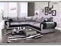 Corner sofa with a separate 2 seater and 2 large cushions