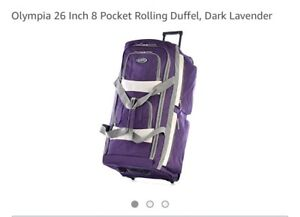 """New with tags - Olympia 26"""" 8 pocket Rolling Duffel Luggage Bag"""