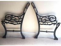 Cast iron garden bench ends for children