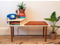 Vintage Mid Century Retro Upcycled Telephone Table