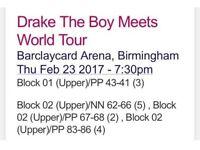 DRAKE - 23rd Feb - Birmingham - Seated Block 1 and 2!