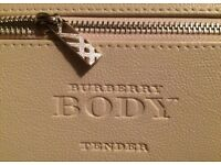 Burberry body tender leather bag