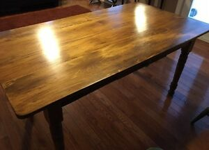 Harvest table with one drawer Kitchener / Waterloo Kitchener Area image 1