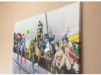 Large DC JUSTICE LEAGUE Canvas