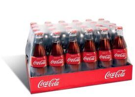 Coke glass bottles pack of 24