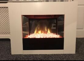 White Gloss electric fireplace