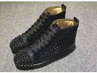 Brand new Christian louboutin black men's high top sneakers