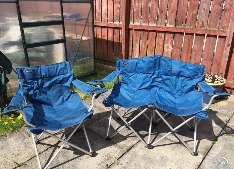Folding Camping Chair And Two Seater Sofa