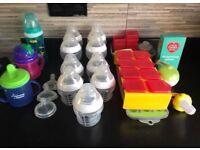 Baby bottles and weaning accessories