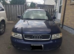 Blue Audi A4 1.8 Quattro 2001 2400$ negotiable price.