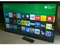 """SONY 42"""" Slim LED FULL HD SMART TV WITH BUILT IN WiFi FREEVIEW HD, HDMI NEW CONDITION FULLY WORKING"""