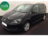 £211.41 PER MONTH BLACK 2011 VW TOURAN 1.6 TDI SE DIESEL MANUAL 7 SEATER