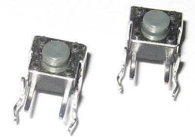 2 X Momentary Pushbutton Micro Switches - Right Angle Pc Board Mount - Pacer