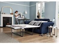 BRAND NEW 3 Seater Fabric Sofa Bed from 'furniture villiage' - (Navy Blue)
