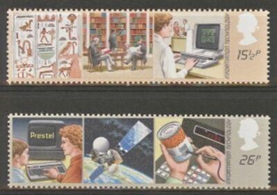 GB MNH Scott 1000-1001, 1982 issue, Information Tech, set of 2