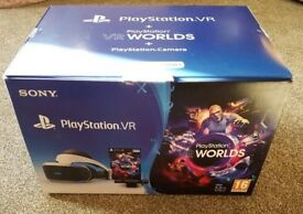 **SEALED** PSVR BUNDLE, PLAYSTATION VR + VR WORLDS + CAMERA BRAND NEW PS4 VR PLUS ONE YEAR WARRANTY