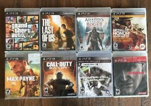 PS3 Bundle Lot Of 8 Games! Including COD Black Ops 3, The Last O