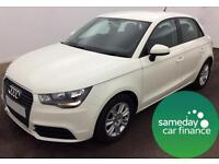 ONLY £173.25 PER MONTH WHITE 2012 AUDI A1 1.6 TDI SE 5 DOOR DIESEL MANUAL