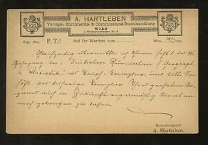 STATIONERY-AUSTRIA-1890-ADVERTISING-PRIVATE-PRINTED-A-HARTLEBEN-VFU