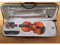 Preloved Hidersine Vivente Violin Outfit 3/4- High Quality Strings and Pegs and Bow-Fantastic Sound