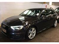 Audi A3 2.0 TDI S Line Sportback 5dr+1 OWNR+FSH+SAT NAV+2 KEYS